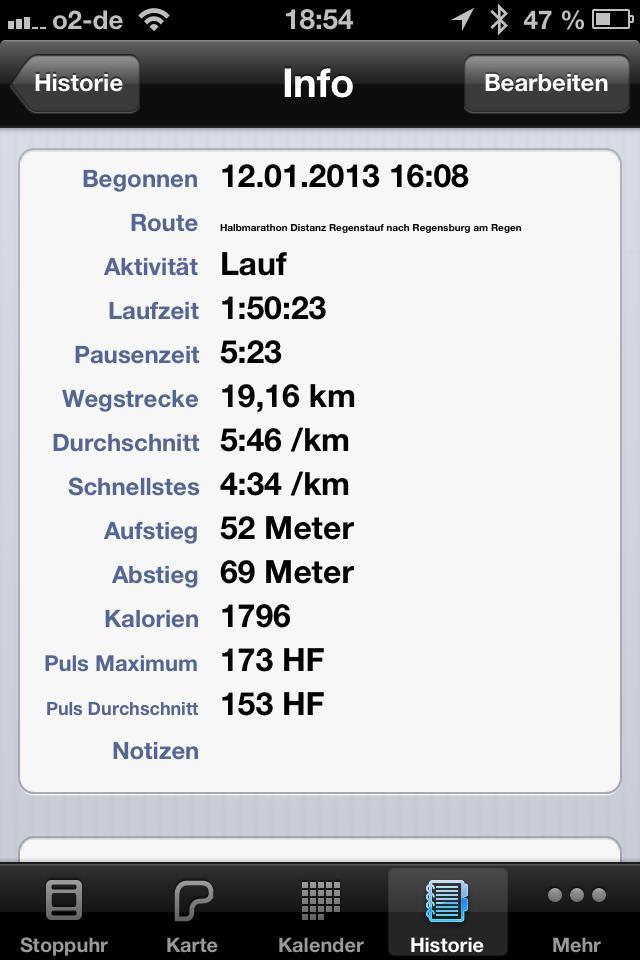 19,2 km Laufen im Grundlagenausdauer 2 bzw. Zone 4-5 1:50 mit Max. km/h von 14,65... Vorbereitung Tough Guy